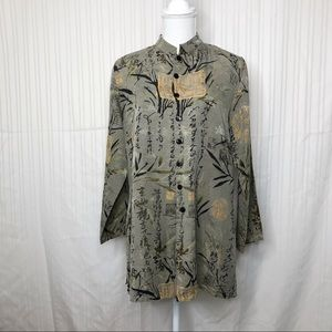 Chico's Design Silk Linen Jacket Sz 1